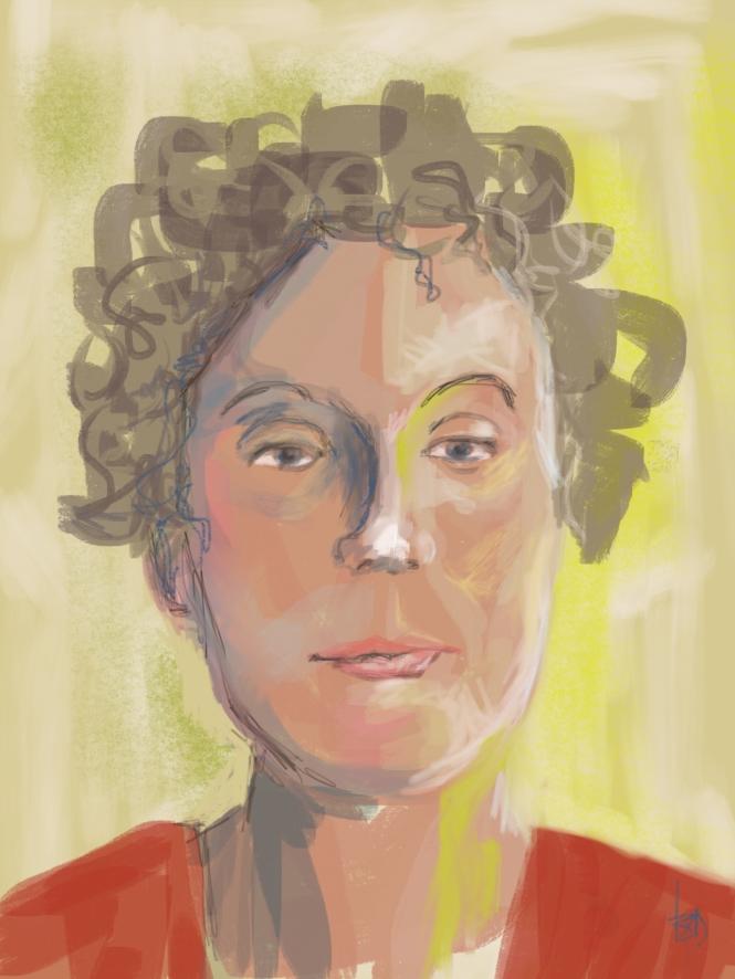 self portrait made on Ipad with Procreate app