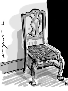 Queen Ann chair with Zenbrush