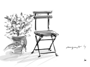 garden chair with Zenbrush
