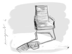 garden chair zenbrush on ipad