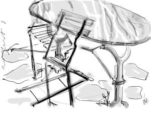 garden chairs Zenbrush on ipad