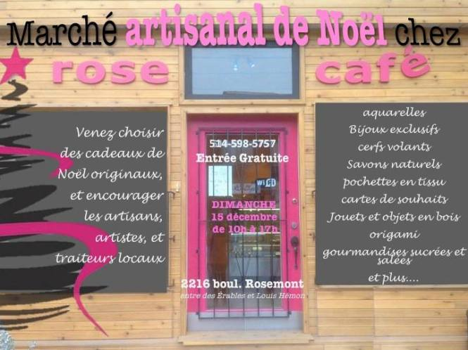 Marché de Noël rosecafe  montreal