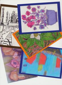 cartes postales des ateliers de créativité pour douleur chronique