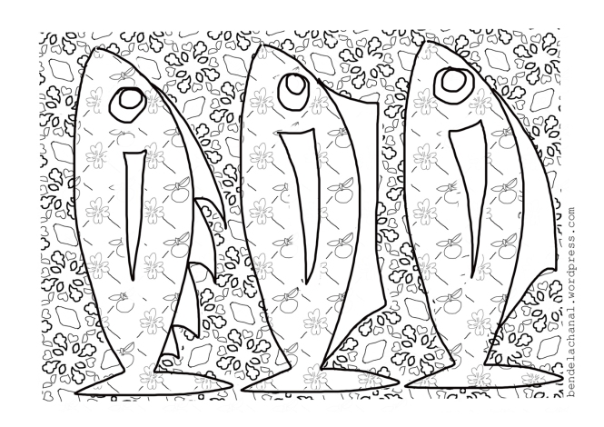 page a colorier poissons