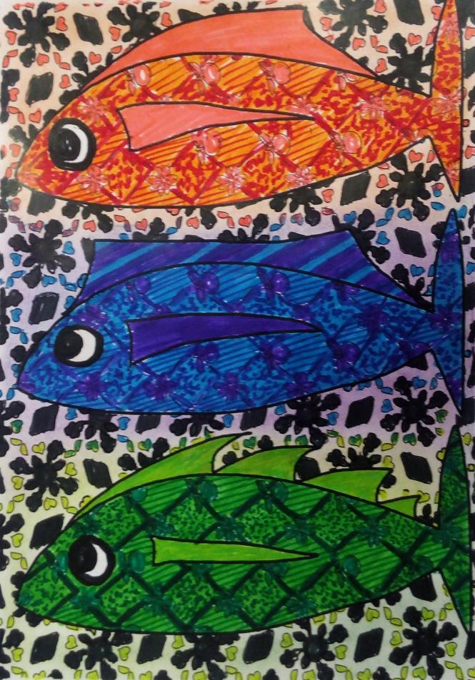 coloriage poissons Claire