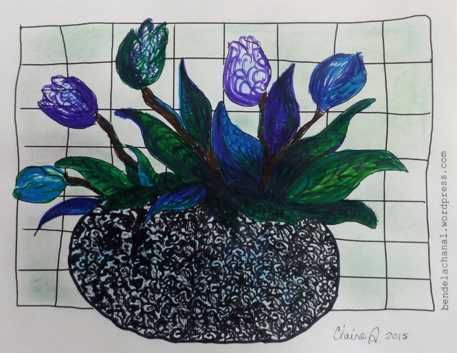coloriage tulipes Claire