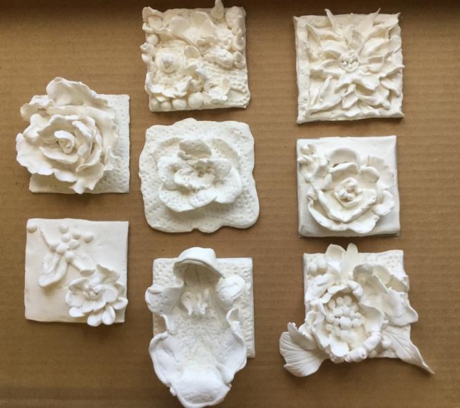 modelage de fleurs B. Delachanal